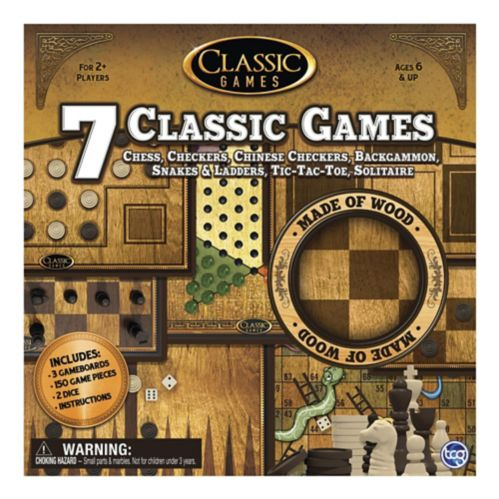TCG 7-in-1 Classic Wood Games