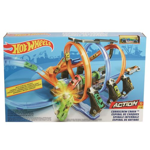 Hot Wheels® Corkscrew Crash™ Track Set
