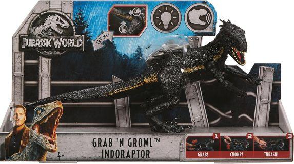 Figurine de dinosaure Jurassic World Grab 'N Growl Indoraptor, choix variés Image de l'article
