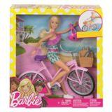 Coffret de jeu poupée Barbie avec vélo | Barbienull