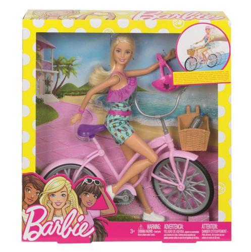 Coffret de jeu poupée Barbie avec vélo Image de l'article