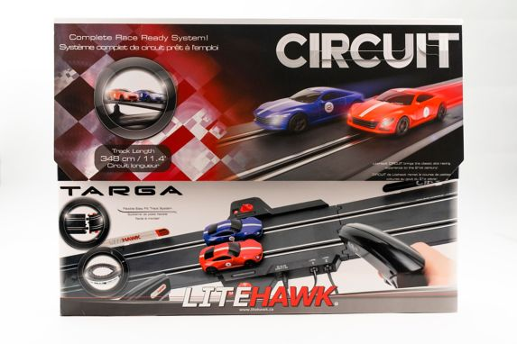LiteHawk 1:43 Targa Circuit Slot Car Set Product image