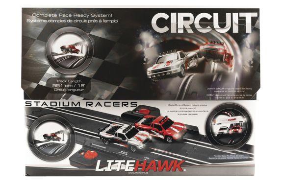 LiteHawk 1:43 Stadium Racers Circuit Slot Car Set