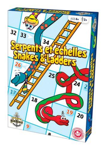 Jeu Serpents et échelles, anglais/français Image de l'article