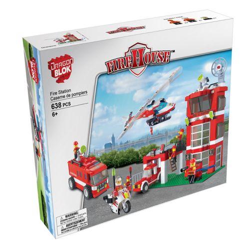 Dragonblok Police Station or Fire Station Building Set, Assorted Product image