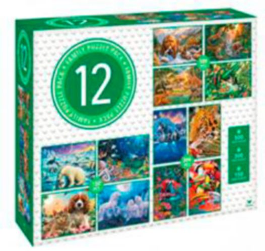 Cardinal Adult Puzzles, Assorted, 12-pk Product image