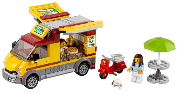 LEGO® City Pizza Van, 249-pc