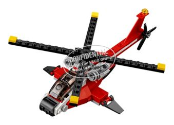 Tire Lego PiècesCanadian Rouge102 L'hélicoptère Creator odCBerx
