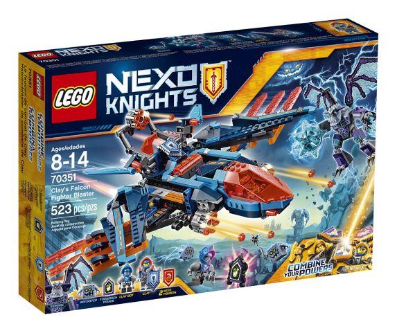Lego Nexo Knights Clay's Falcon Fighter Blaster, 523-pcs