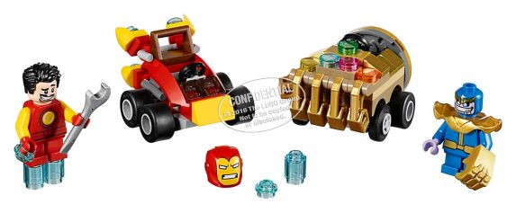 Lego Super Heroes Mighty Micros: Iron Man vs. Thanos, 94-pcs Product image