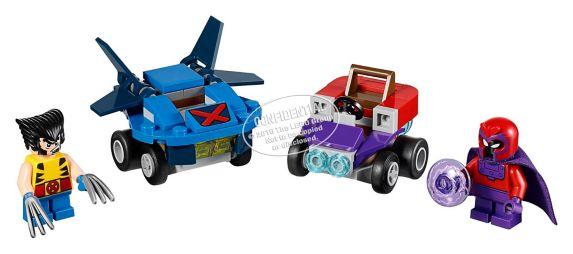 LEGO Super Heroes Mighty Micros : Wolverine contre Magneto, 85 pièces