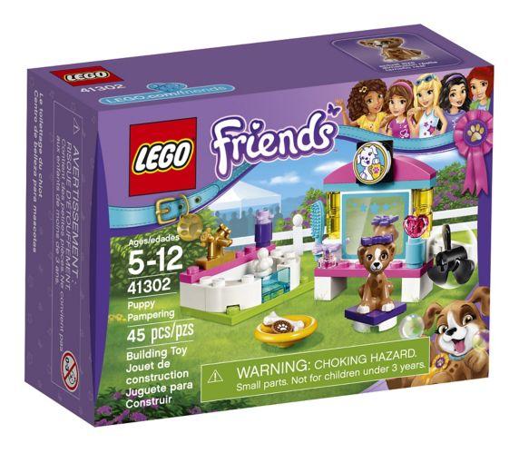 LEGO Friends Le toilettage du chiot, 45 pièces