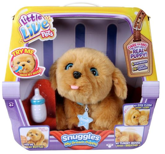 Little Live Pets Snuggles or Ruffles Puppy Toy, Assorted