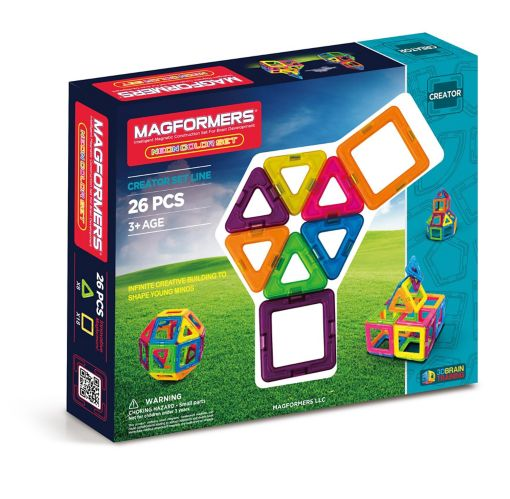Magformers® Magnetic Neon Color Construction Set, 26-pc
