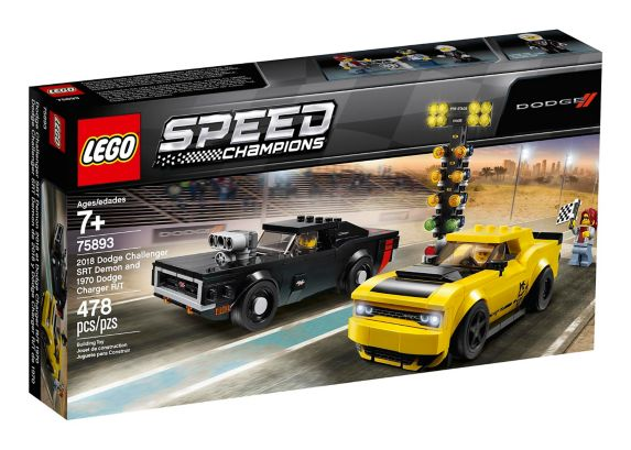 LEGO® Speed Champions 2018 Dodge Challenger SRT Demon and 1970 Dodge Charger R/T - 75893 Product image