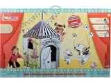 Tente de cirque en carton pour enfants