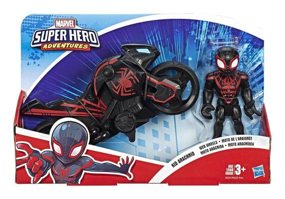 Marvel Super Hero Adventures Action Figure & Motorcycle Set, Assorted Product image