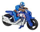 Marvel Super Hero Adventures Action Figure & Motorcycle Set, Assorted | Playskoolnull