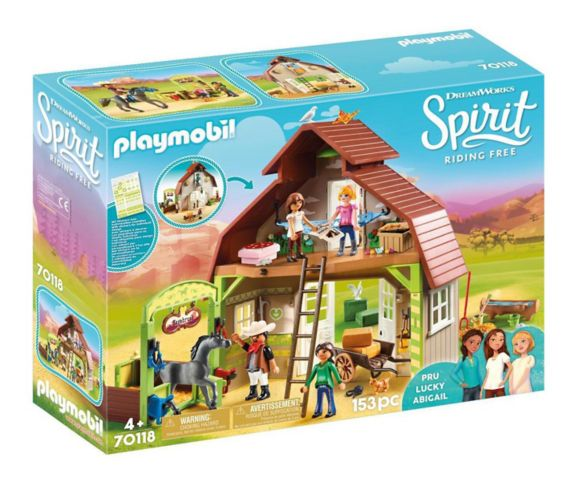 PLAYMOBIL Spirit Riding Free Barn with Lucky, Pru & Abigail Product image