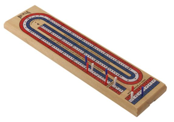 Wooden Cribbage Board Product image