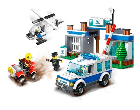 Dragon Blok Police Forest Police Department Building Set Product image