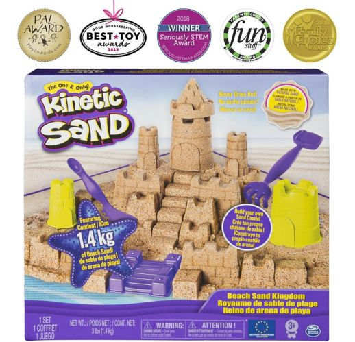 Coffret Royaume de sable de plage Kinetic Sand