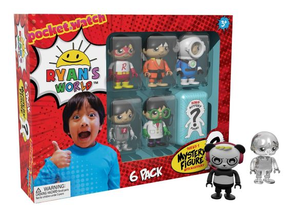 Ryan's World 6 Pack Collectible Mystery Figure Set Product image
