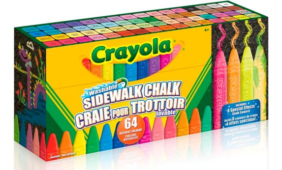 Crayola Washable Sidewalk Chalk, 64-pk Product image