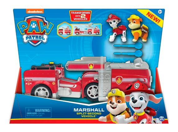 PAW Patrol Marshall Split-Second Transforming Fire Truck Vehicle Product image