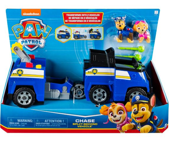 PAW Patrol Chase Split-Second Transforming Police Cruiser Vehicle Product image