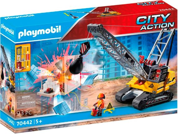 PLAYMOBIL City Action Cable Excavator with Building Section