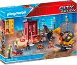 PLAYMOBIL City Action Mini Excavator with Building Section | PLAYMOBILnull
