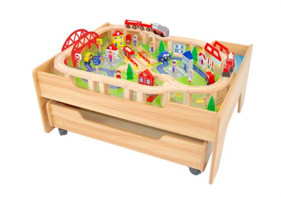 Wooden Train Set, 100-pc Product image