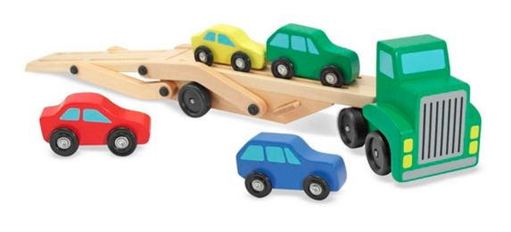Melissa & Doug Car Carrier Truck & Cars Wooden Toy Set