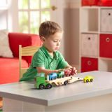 Melissa & Doug Car Carrier Truck & Cars Wooden Toy Set | Melissa & Dougnull