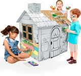 Cardboard Cottage Colouring House