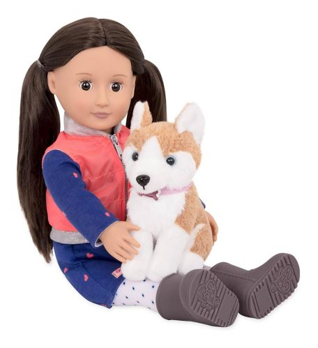 Our Generation Doll, Leslie with Dog Product image