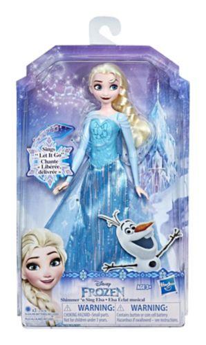 Disney Frozen Shimmer 'n Sing Elsa or Anna Singing Doll, Assorted Product image