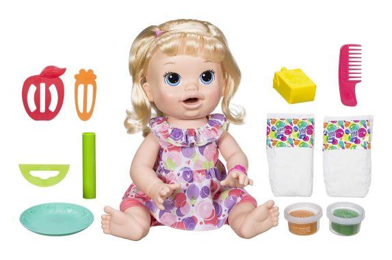 Poupée Sara Baby Alive Super Snacks, blonde