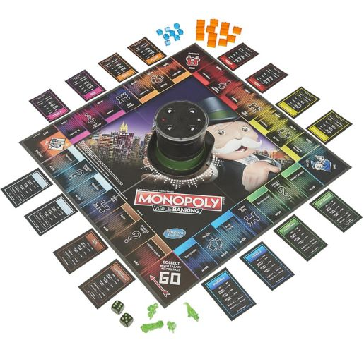 Hasbro Monopoly Voice Banking Electronic Board Game, English