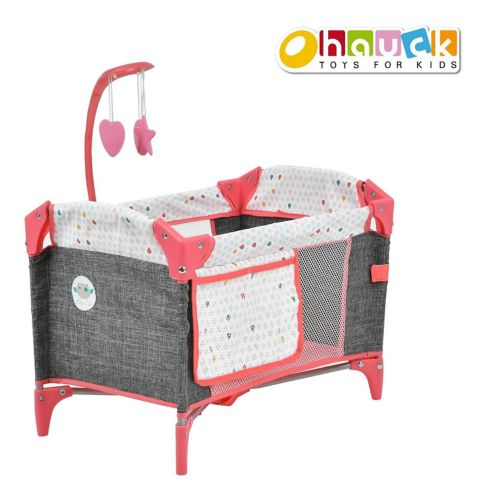 Foldable Doll Play Yard with Mobile