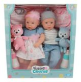 Kisses & Cuddles Baby Doll Twins Set, 14-in