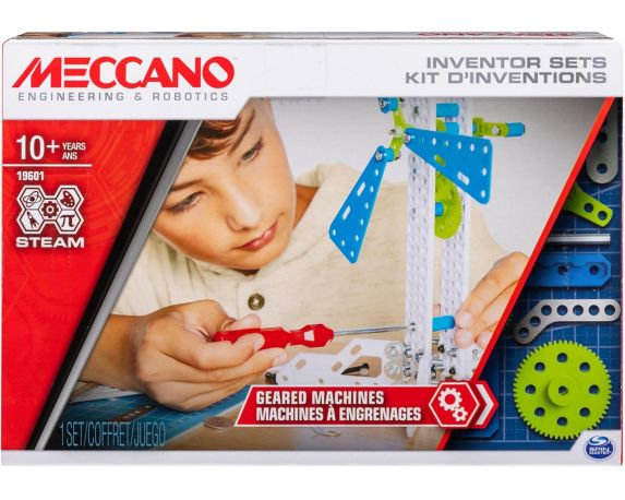 MECCANO Inventor Sets Geared Machines S.T.E.A.M Building Kit, Set 3