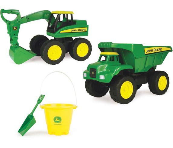 John Deere Big Scoop Dump Truck & Excavator Set, 2-pk