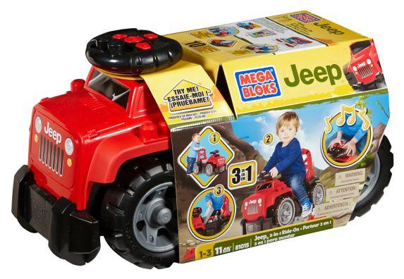 Jeep Ride-On with Blocks