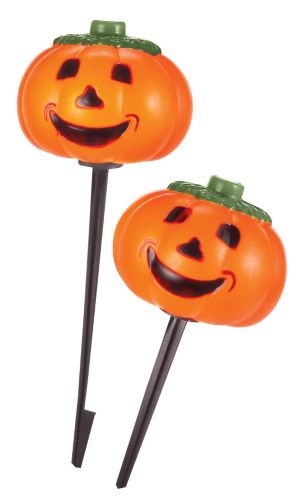 For Living Plastic Pumpkin Stake Lights, Plug-In, 10-pk Product image