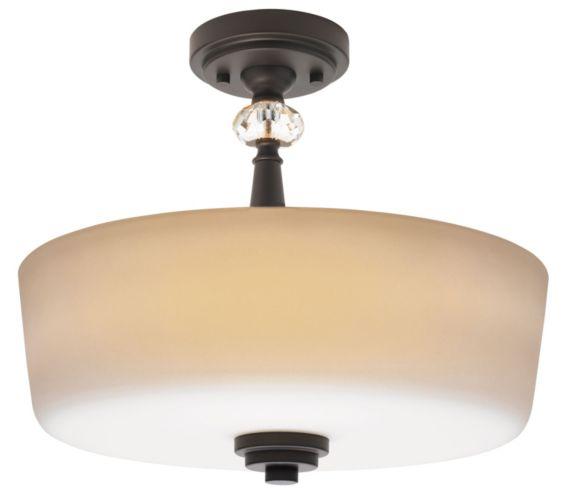 For Living Mavis Bronze Semi-Flush Mount, 3-Light Product image