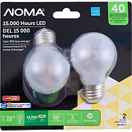 NOMA LED G16.5 40W E26 Base Filament Frost Dimmable Soft White, 2-pk
