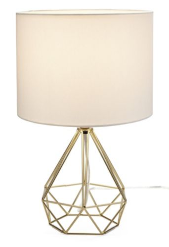 CANVAS Elita Geo Table Lamp, White/Gold Product image