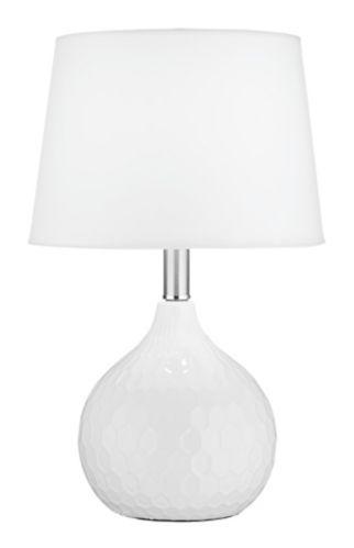 CANVAS Valentina Ceramic Table Lamp, White Product image